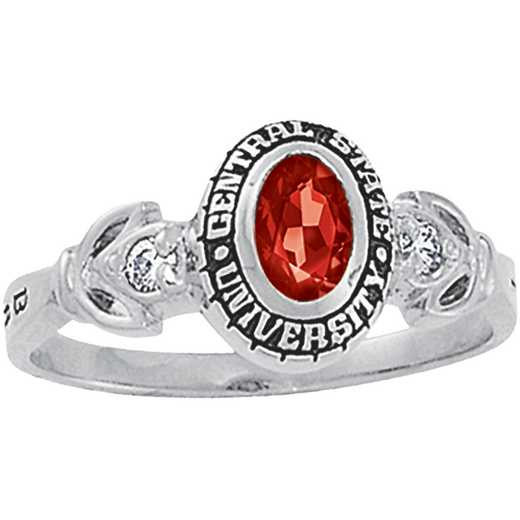 University of Vermont Twilight Ring with Diamond and Birthstone