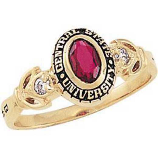 Santa Clara University Women's Twilight Ring with Cubic Zirconias
