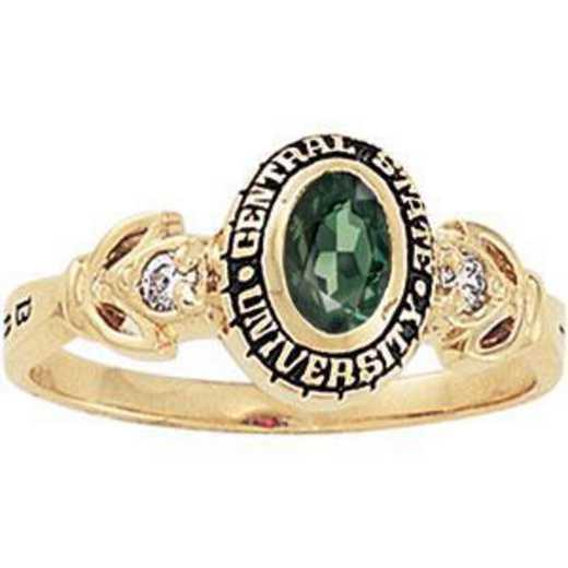 Santa Clara University Women's Twilight Ring with Diamond and Birthstone