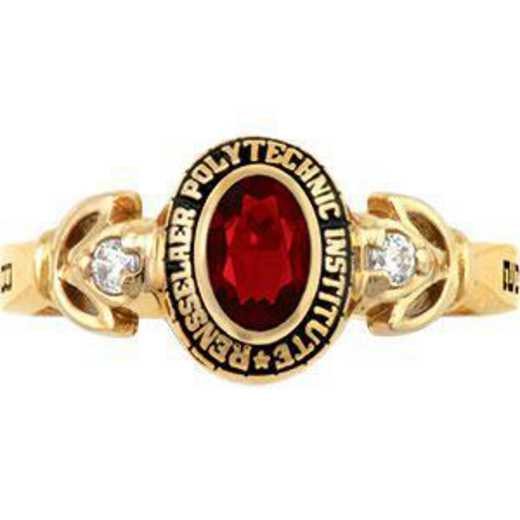 Rensselaer Polytechnic Institute Class of 2011 Women's Twilight Ring with Diamonds and Birthstone