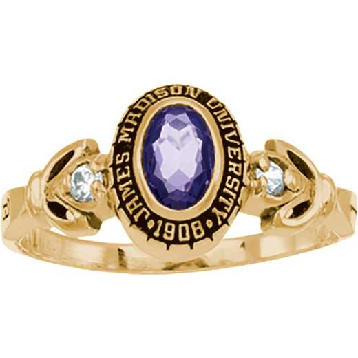 James Madison University Class of 2016 Women's Twilight Ring with Diamonds and Birthstones