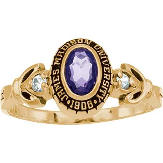 James Madison University Class of 2015 Women's Twilight Ring with Diamonds and Birthstones