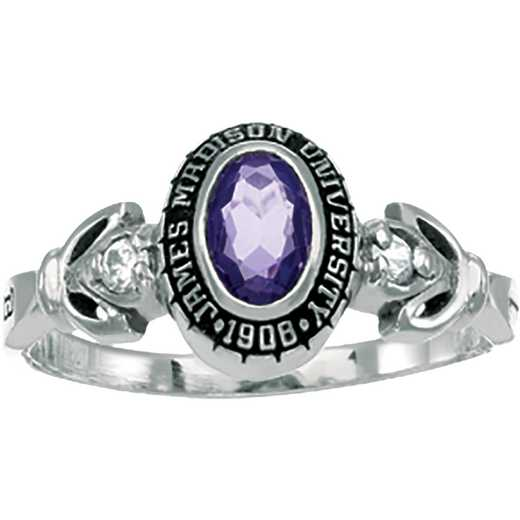 James Madison University Class of 2019 Women's Twilight Ring with Diamonds and Birthstones