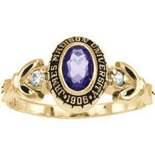 James Madison University Class of 2012 Women's Twilight Ring with Diamonds and Birthstone