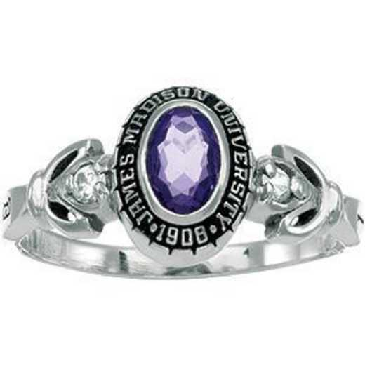 James Madison University Class of 2014 Women's Twilight Ring with Diamonds and Birthstones