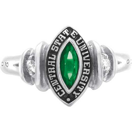 University of Vermont Duet Ring with Cubic Zirconias