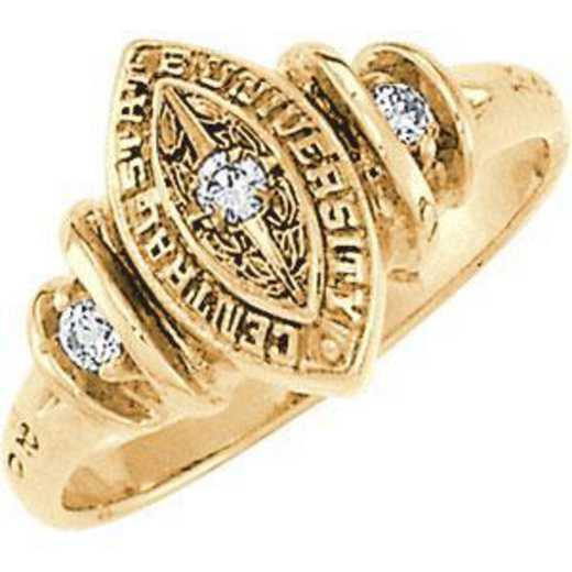 Santa Clara University Women's Duet Ring with Cubic Zirconias