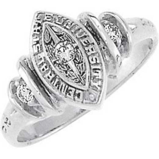 Santa Clara University Women's Duet Ring with Diamond