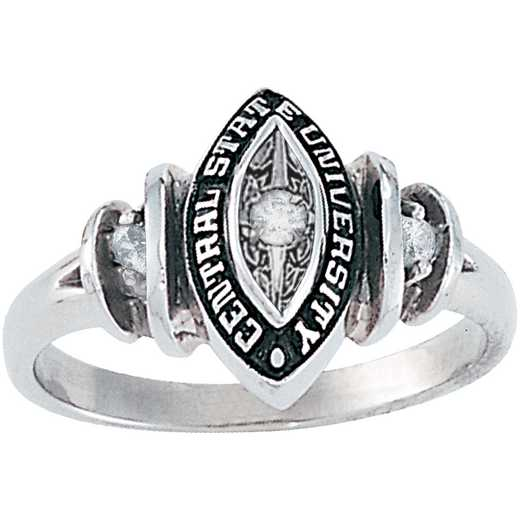 Union College Women's Duet Ring with Diamonds and Birthstones