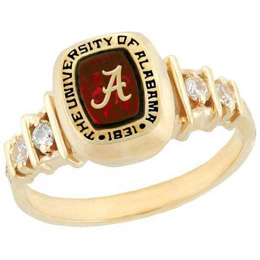 University of Alabama Women's Highlight Ring with Cubic Zirconia Side Stones