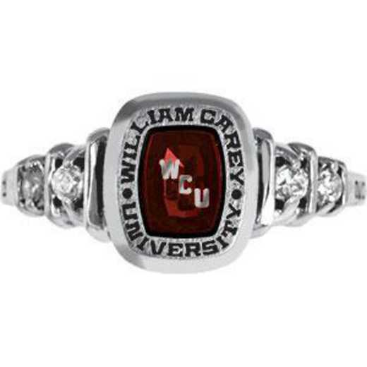 William Carey University Women's Highlight with Side Stone Ring