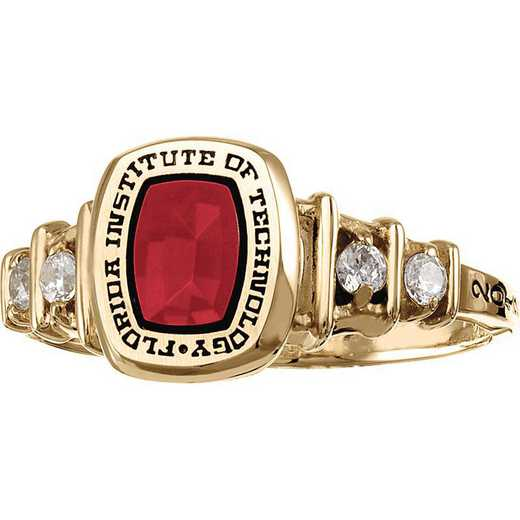 Florida Institute of Technology Women's Highlight Ring with Cubic Zirconias