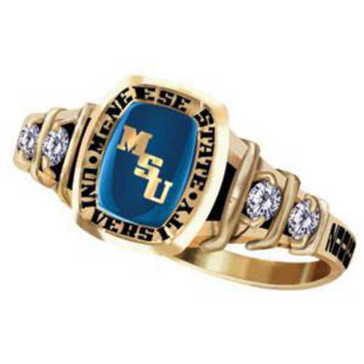 McNeese State University Women's Highlight Ring with Cubic Zirconia Side Stones
