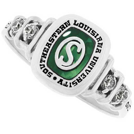 Southeastern Louisiana University Women's Highlight with Cubic Zirconia Side Stones Ring