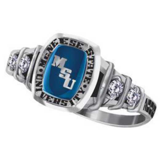 McNeese State University Women's Highlight Ring with Diamond Side Stones