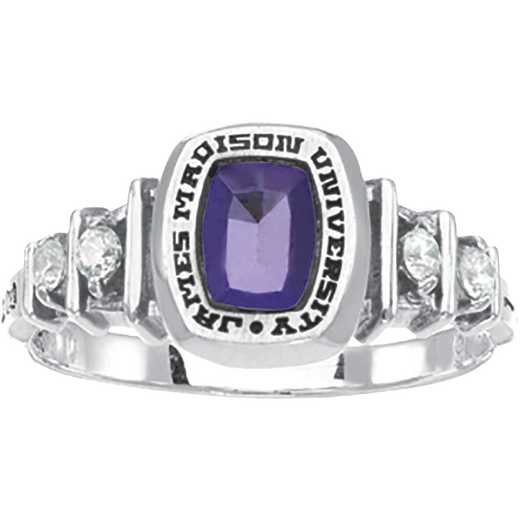James Madison University Class of 2016 Women's Highlight Ring with Cubic Zirconias