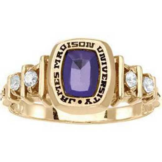 James Madison University Class of 2012 Women's Highlight Ring with Cubic Zirconias