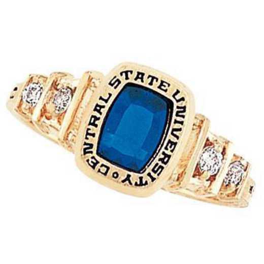 Santa Clara University Women's Highlight Ring with Cubic Zirconia Side Stones