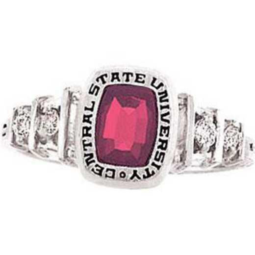 Santa Clara University Women's Highlight Ring with Diamond Side Stones