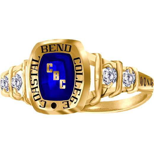 Coastal Bend College Women's Highlight Ring with Cubic Zirconias