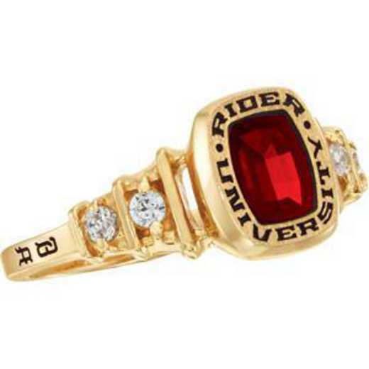 Rider University Women's Highlight Ring with Cubic Zirconias