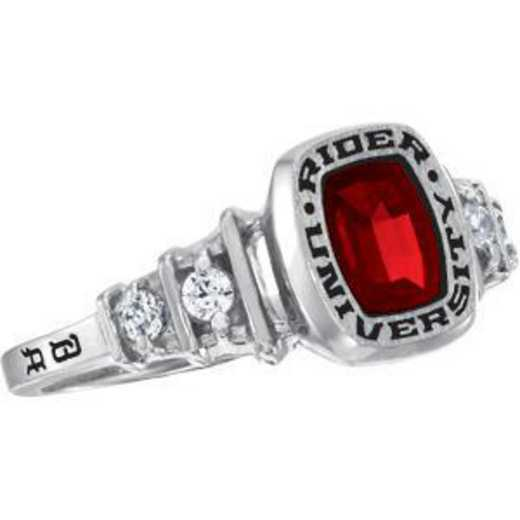 Rider University Women's Highlight Ring with Diamonds