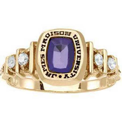 James Madison University Class of 2011 Women's Highlight Ring with Diamonds