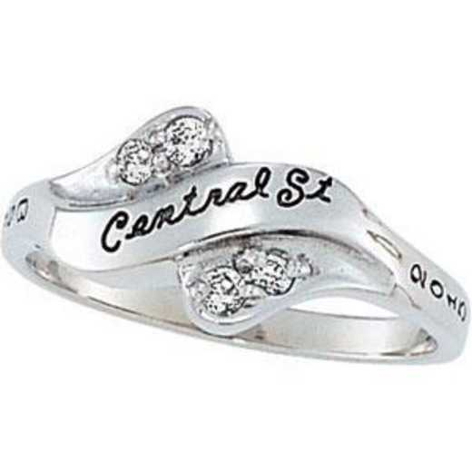 Champlain College Women's Seawind Ring with Diamond