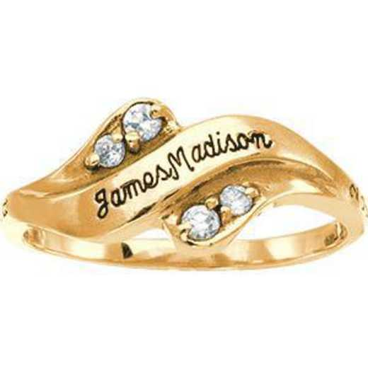 James Madison University Class of 2012 Women's Seawind Ring with Diamonds