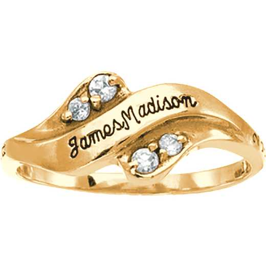 James Madison University Class of 2018 Women's Seawind Ring with Diamonds and Birthstones