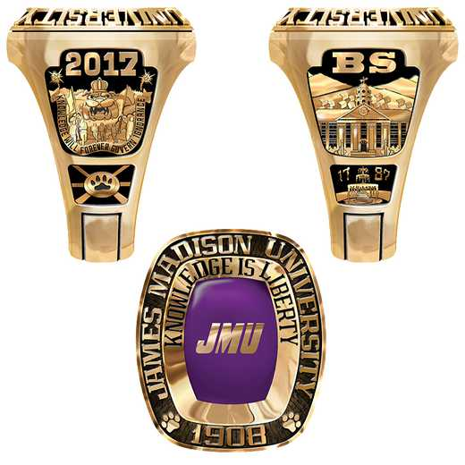 James Madison University Class of 2017 Men's Legend Ring