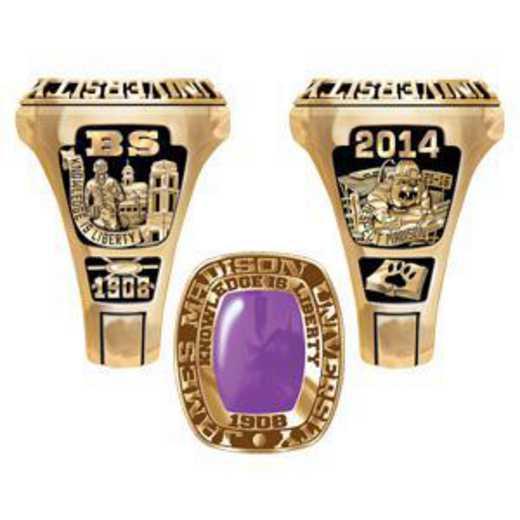 James Madison University Class of 2014 Men's Legend Ring