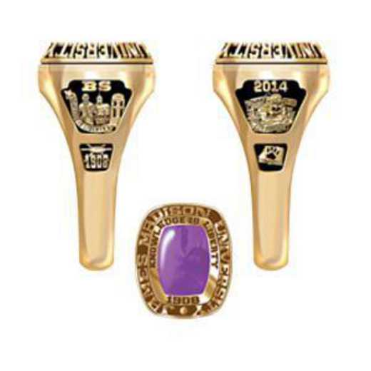 James Madison University Class of 2014 Women's Lady Legend Ring