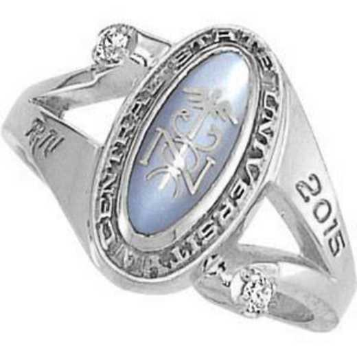 Santa Clara University Women's Symphony Ring with Diamond and Birthstone