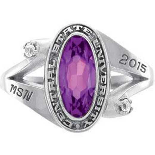 University of Vermont Symphony Ring with Cubic Zirconias