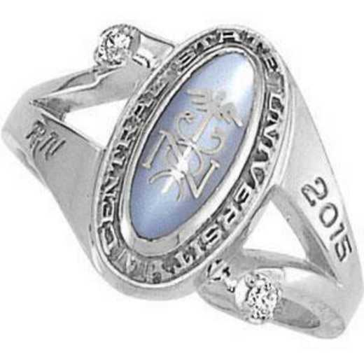 Rider University Women's Symphony Ring with Diamonds