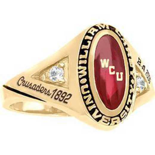 William Carey University Women's Signature with Side Stone Ring