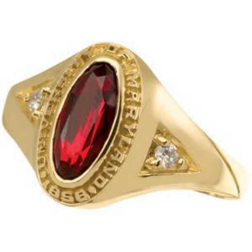 University of Maryland College Park Women's Signature Ring with Cubic Zirconia Side Stones