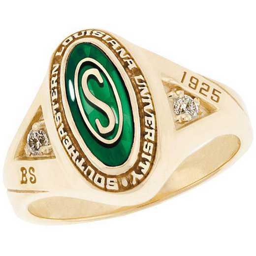 Southeastern Louisiana University Women's Signature Ring with Cubic Zirconia Side Stones