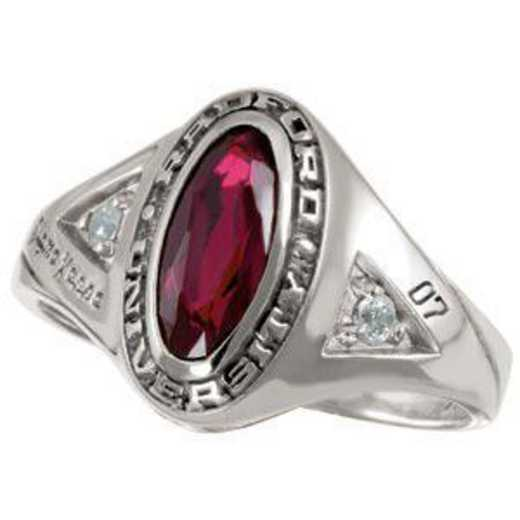 Radford University Radford-VA Women's Signature Ring with Diamonds