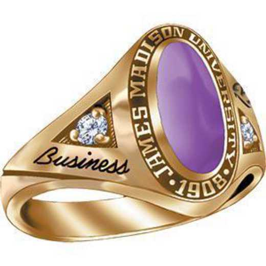 James Madison University Class of 2013 Women's Signature Ring with Cubic Zirconias