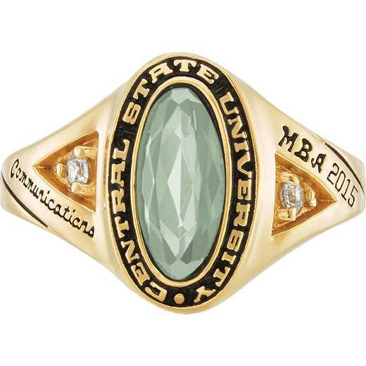 University of Vermont Signature Ring with Cubic Zirconias