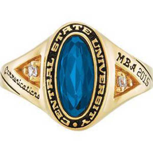 Santa Clara University Women's Signature Ring with Cubic Zirconias