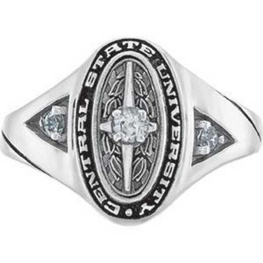 Santa Clara University Women's Signature Ring with Diamond