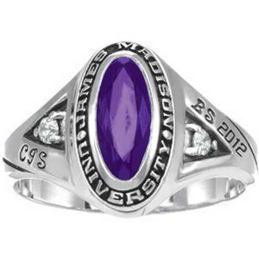 James Madison University Class of 2012 Women's Signature Ring with Diamonds