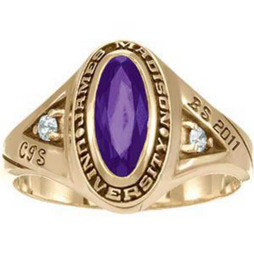 James Madison University Class of 2011 Women's Signature Ring with Diamonds