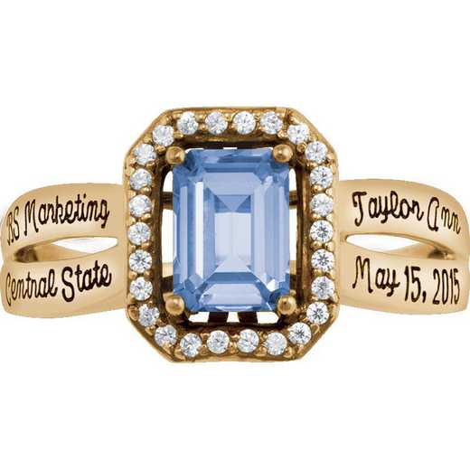 University of California at Riverside Women's Inspire Ring College Ring