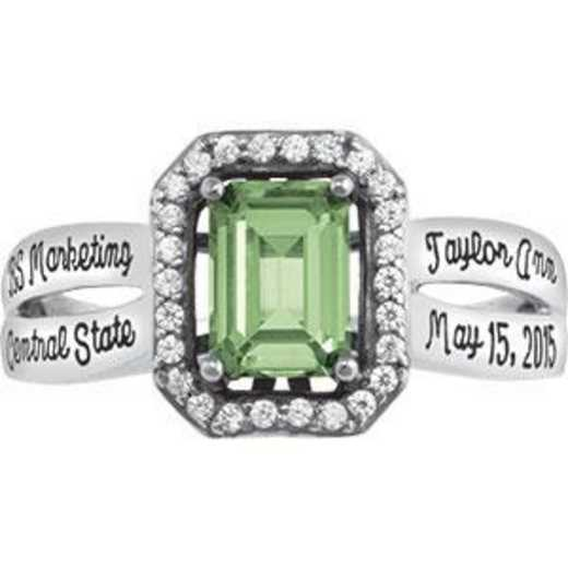 Santa Clara University Women's Inspire Ring with Diamonds