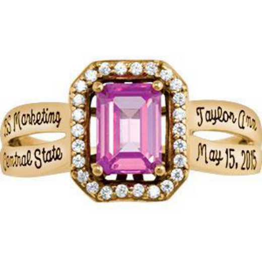 Santa Clara University Women's Inspire Ring with Cubic Zirconias