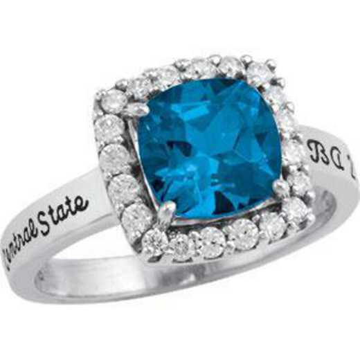 Sonoma State University Women's Embrace Ring with Diamonds